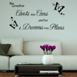 She Turned Her Can'ts into Cans ~ Motivational Wall sticker / decals (1)